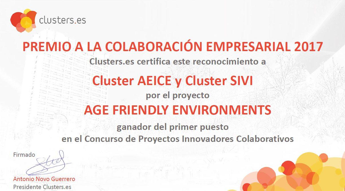 certificado del premio a la colaboración empresarial 2017